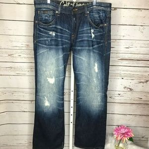Cult Of Individuality Mens Distressed Harley Jeans
